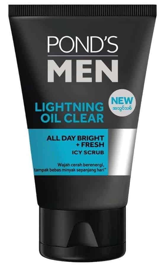 Pond's Men Lightning Oil Clear All Day Bright Fresh Icy Scrub
