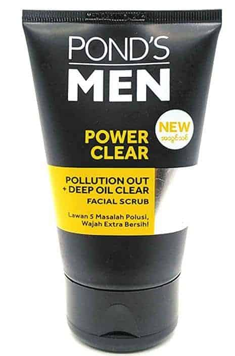 Pond's Men Power Clear Polluting Out Deep Oil Clear Facial Scrub