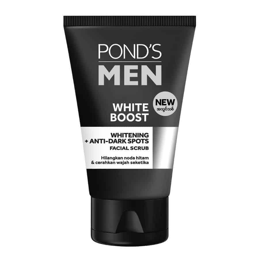Pond's Men White Boost Whitening + Anti Dark Spot Facial Scrub