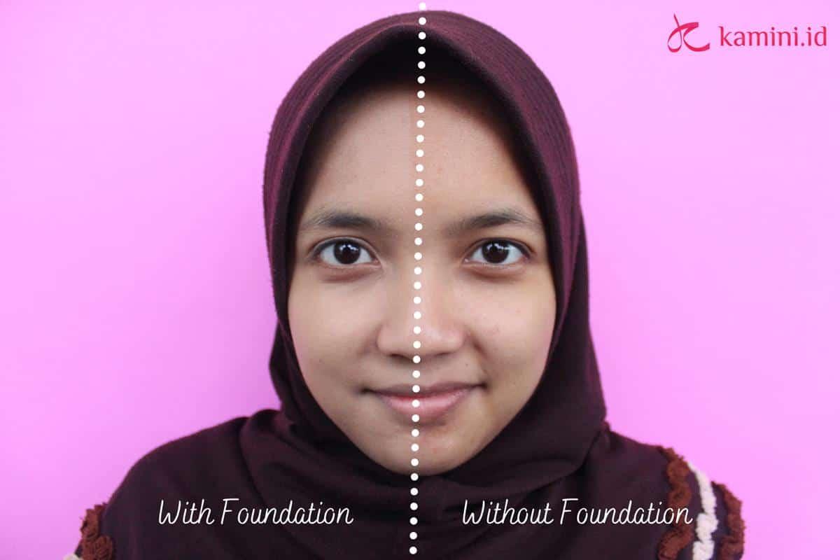 Review Wardah Lightening Liquid Foundation_Aplikasi (Copy)