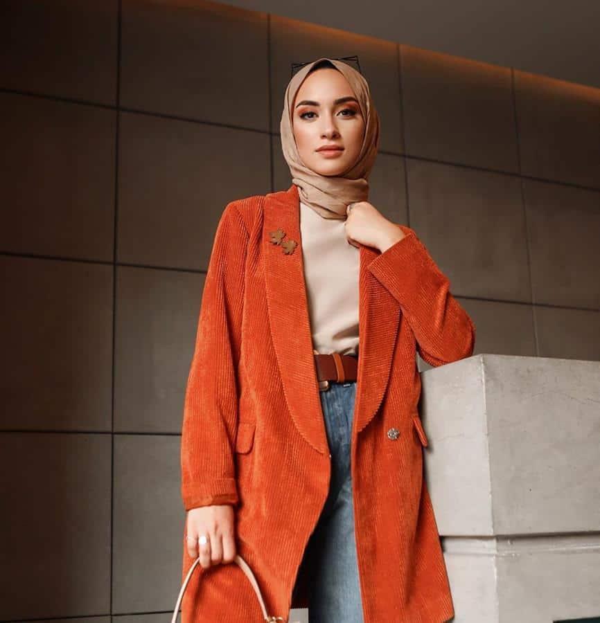 warna hijab untuk baju oranye_Golden brown (Copy)