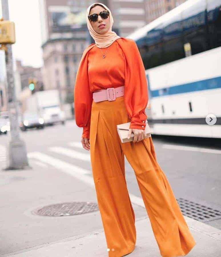 warna hijab untuk baju oranye_orange pastel (Copy)