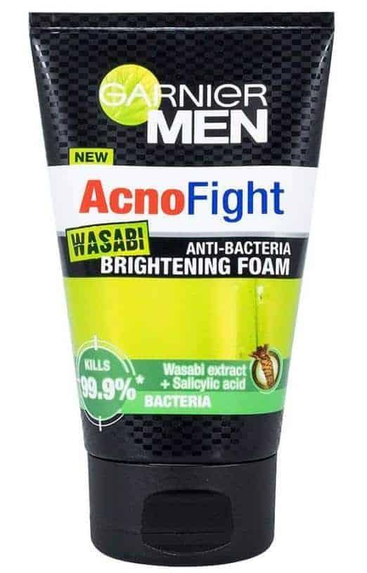Garnier Men Acno Fight Wasabi Anti-bacterial Brightening Foam