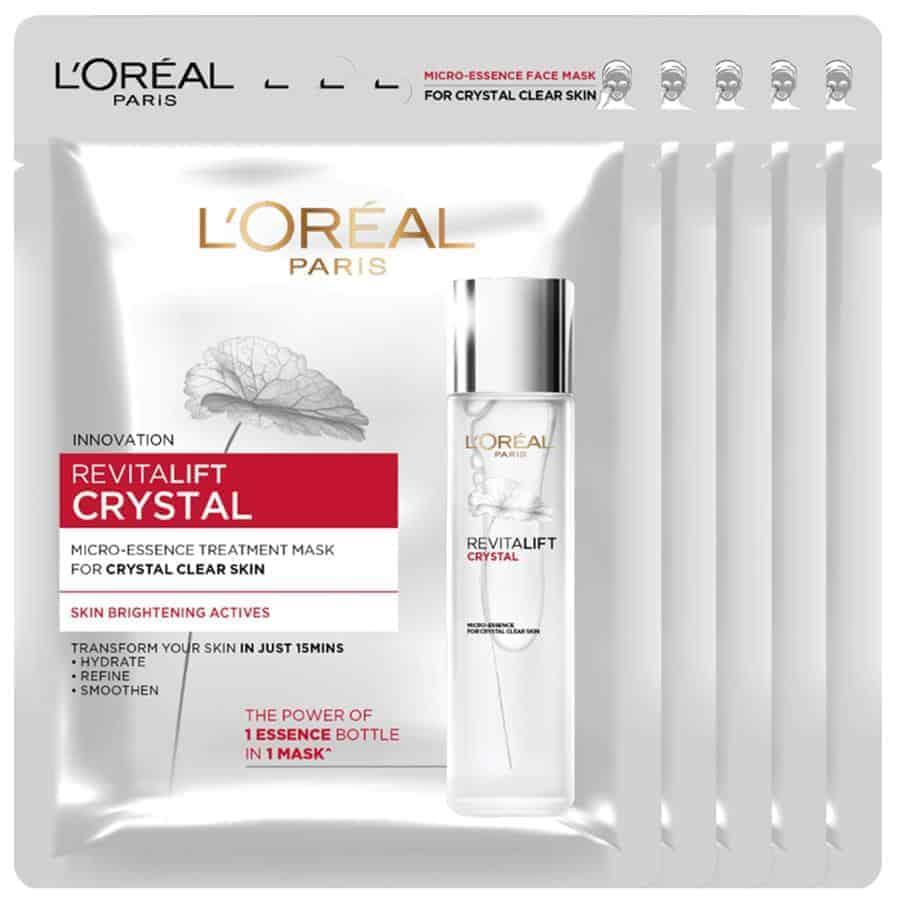 L'Oreal Paris Revitalift Crystal Micro-Essence Treatment Mask 1