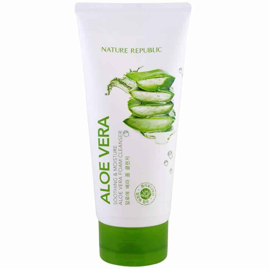 Nature Republic Soothing & Moisture Aloe Vera Cleansing Gel Foam