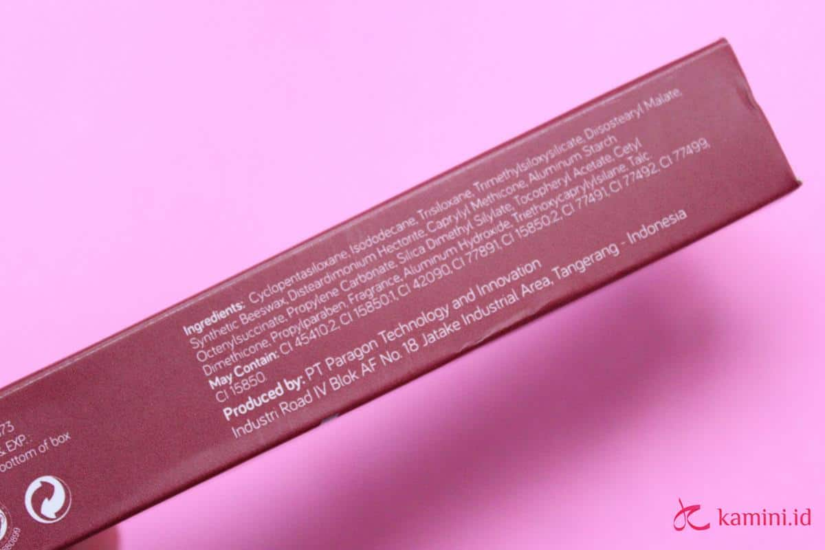 Review Wardah Matte Lip Cream_ingredients (Copy)