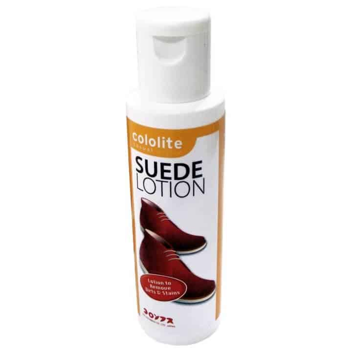 Cara membersihkan sepatu suede_pakai suede lotion (Copy)