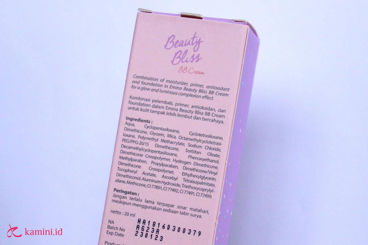 Review BB Cream Emina ingredients (Copy)