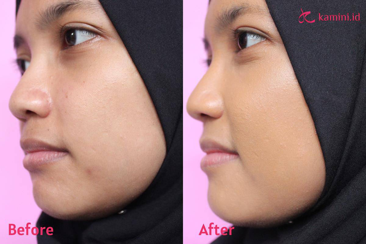 Review Pixy serum foundation_aplikasi