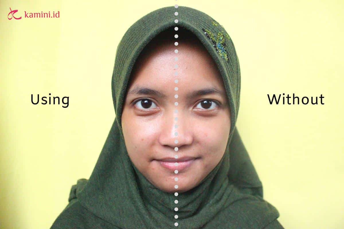 Review Wardah Sunscreen Gel aplikasi