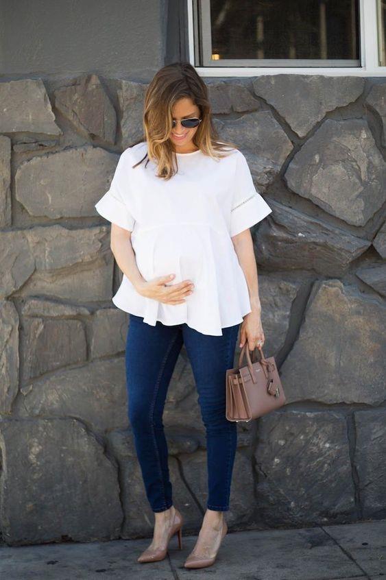 Style wanita hamil untuk kerja 4