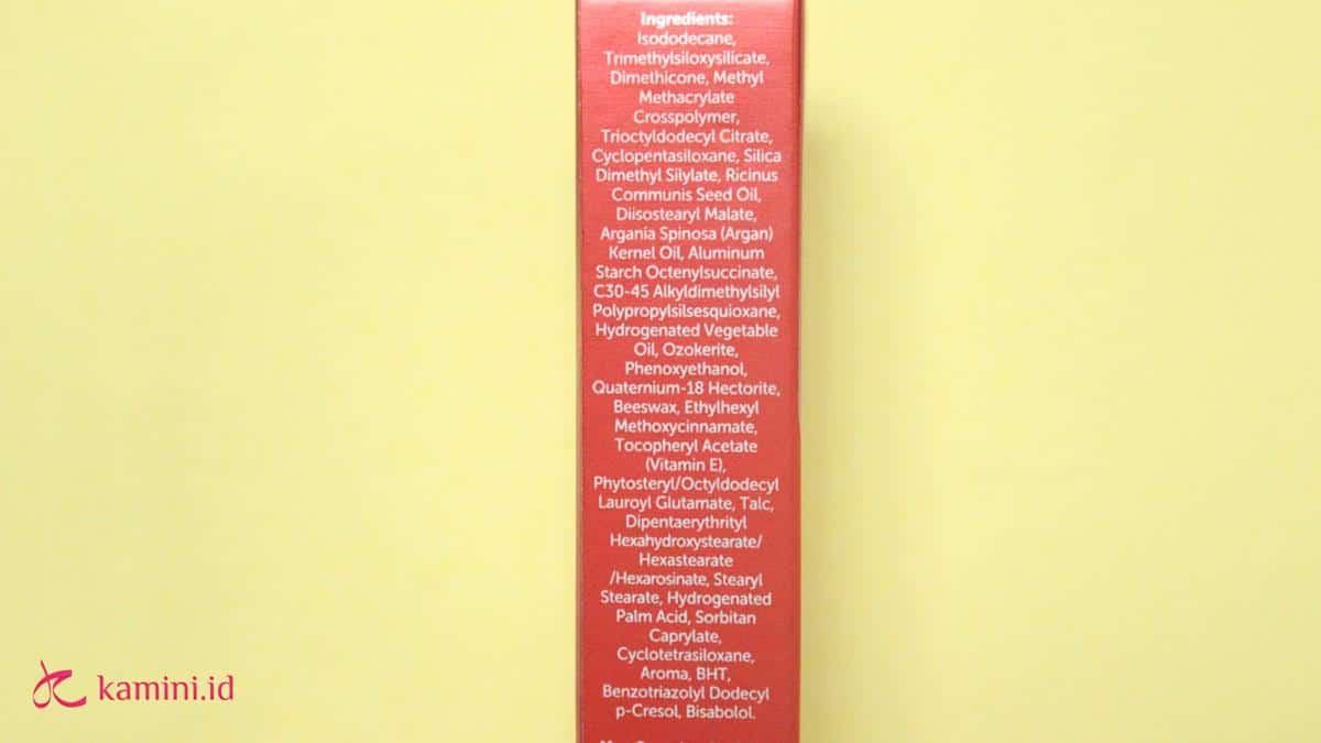 Review Marina Glow Ready Lip Cream ingredients list