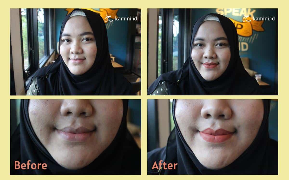 Review Marina Glow Ready Lip Cream swatch