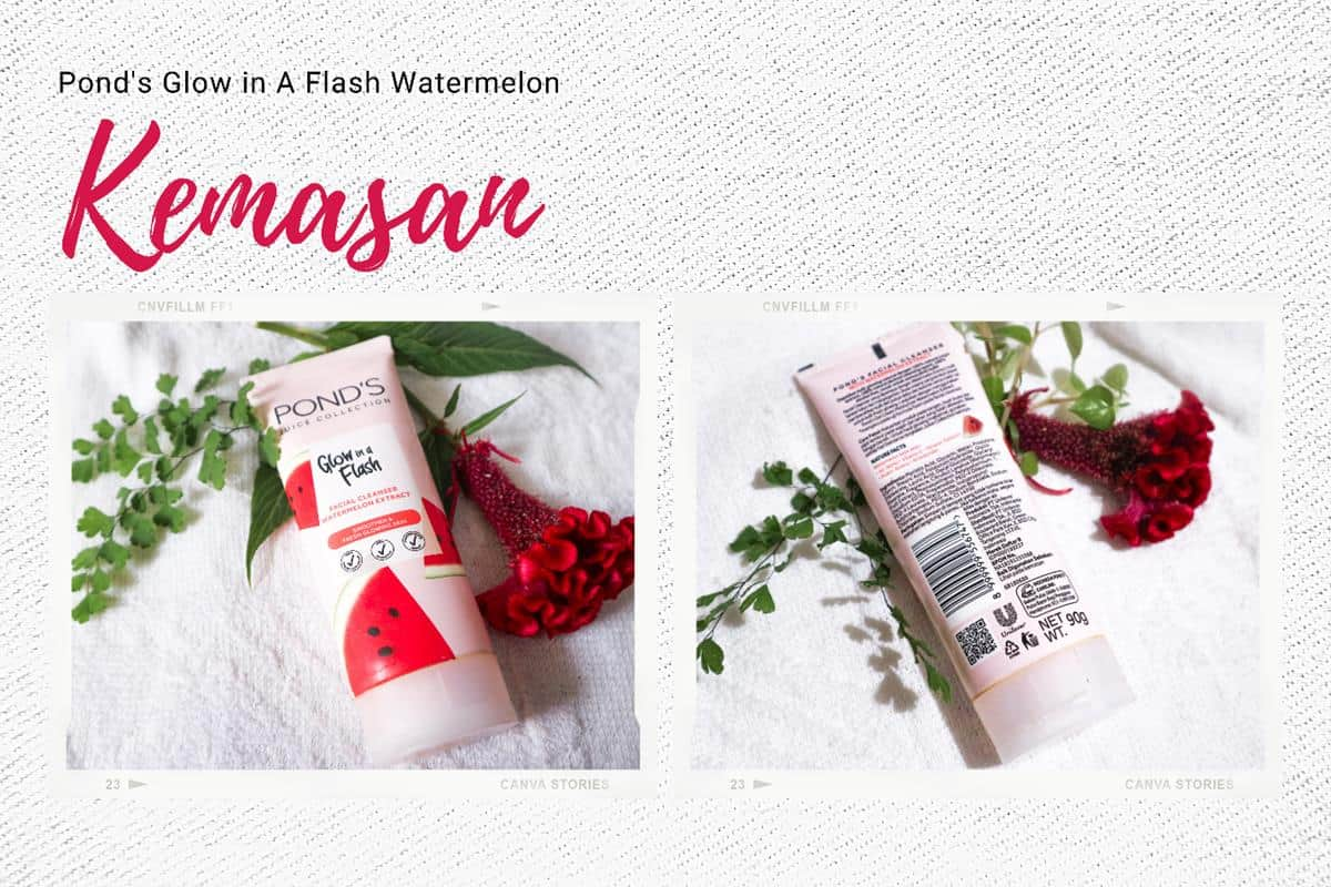 Review Pond's Glow in A Flash Watermelon Facial Cleanser_Kemasan