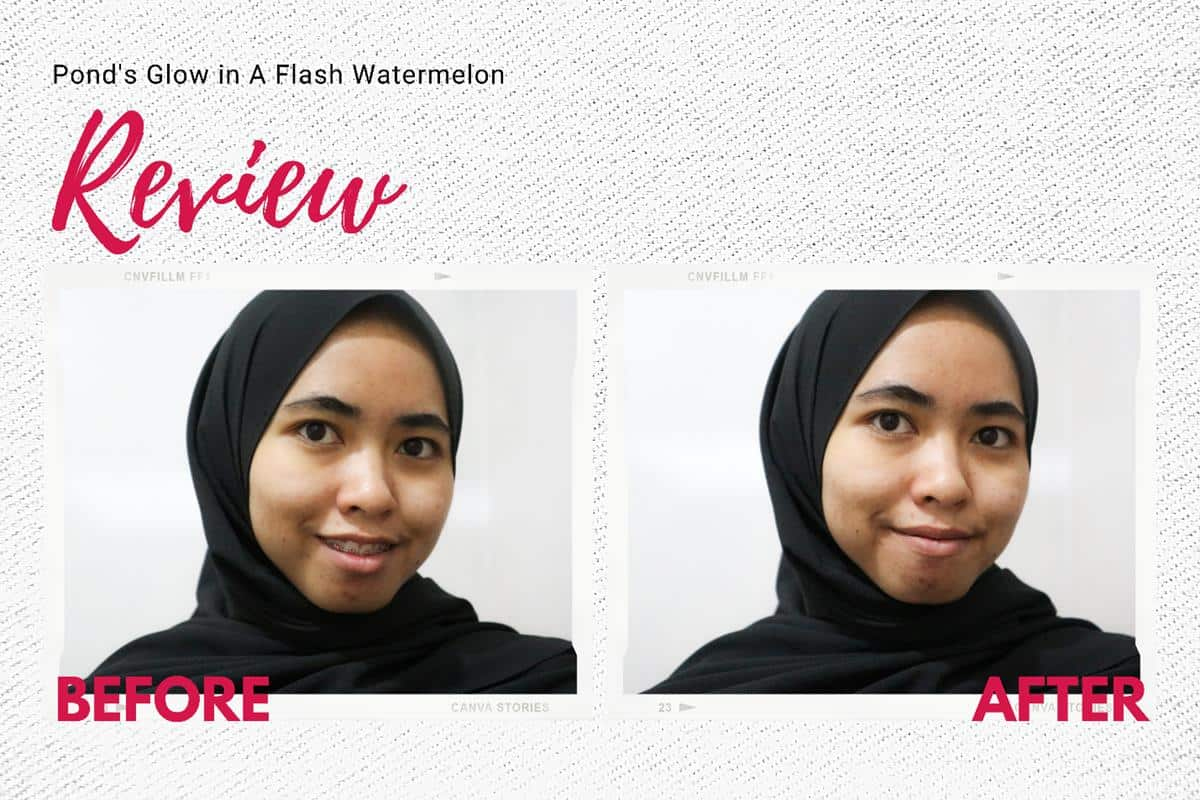 Review Pond's Glow in A Flash Watermelon Facial Cleanser_Performa