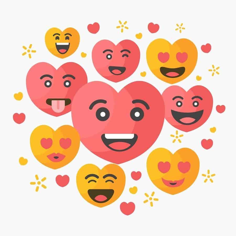 cara menghibur pacar yang lagi sedih lewat chat_Hibur dengan emoticon cinta