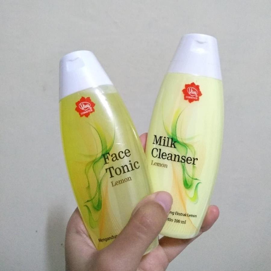 jenis viva milk cleanser dan face tonic_Viva Milk Cleanser & Face Tonic Lemon