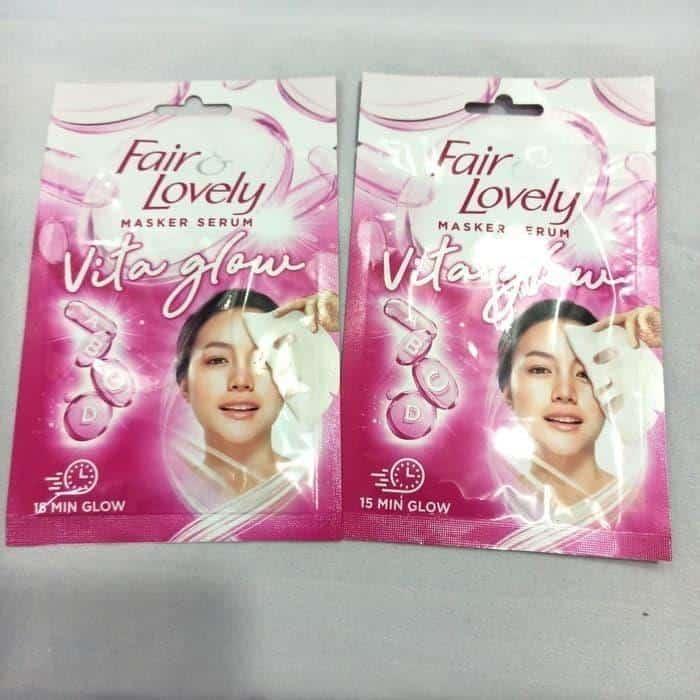 produk glow & lovely untuk kulit berjerawat_Fair and Lovely Masker Serum Vita Glow