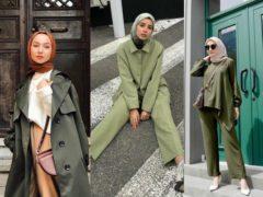 warna jilbab yang cocok untuk baju hijau tua