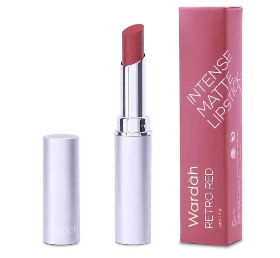 warna lipstik wardah matte untuk remaja_Wardah Intense Matte Lipstick Retro Red
