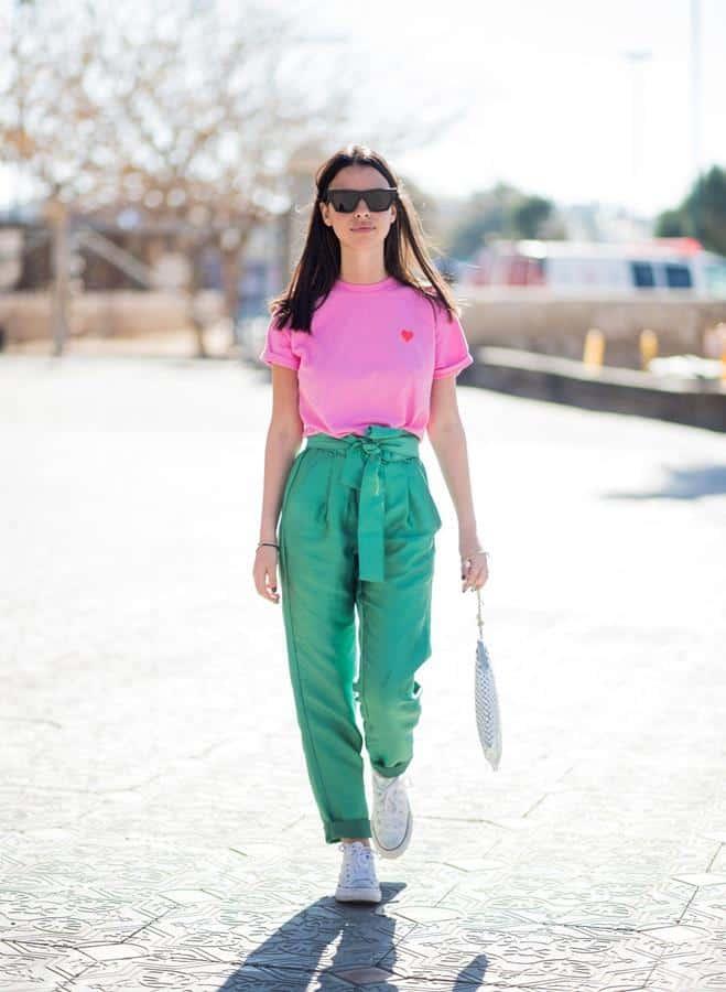 warna yang cocok dengan hijau_Hijau dan Pink
