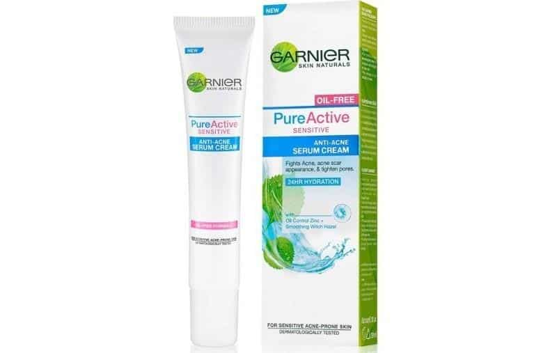 serum wajah dibawah 50 ribu_Garnier Pure Active Sensitive Anti Acne Serum Cream