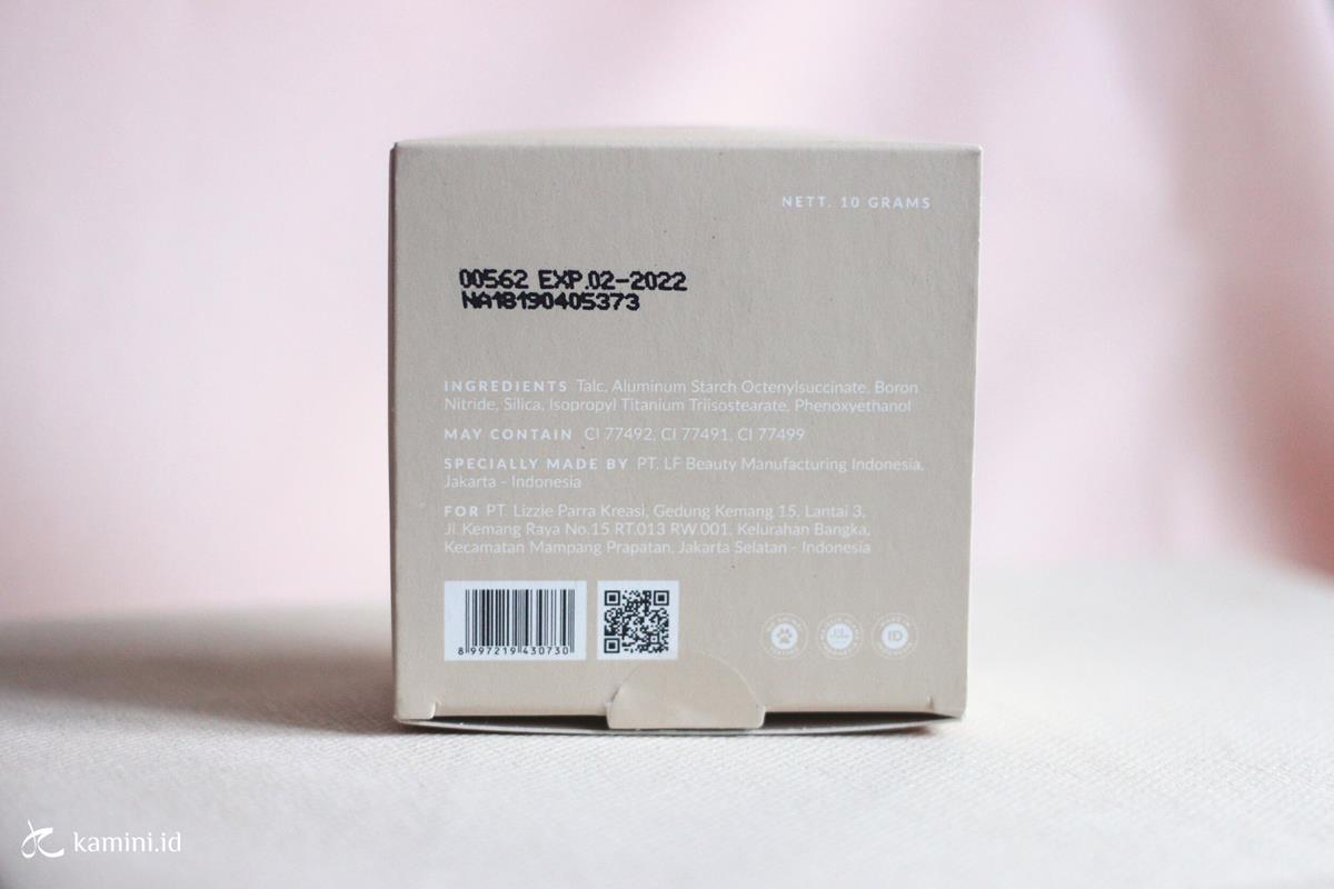 Review BLP Face Powder_ingredients list