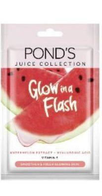masker wajah saat berpuasa_Pond's Glow in A Flash Watermelon Sheet Mask