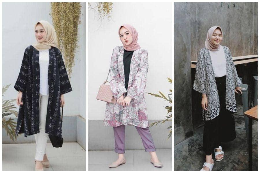 inspirasi busana lebaran wanita_Kimono Outer
