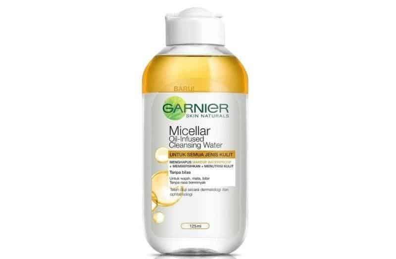 skincare untuk kulit kombinasi remaja_Garnier Micellar Water Oil-Infused Cleansing Water