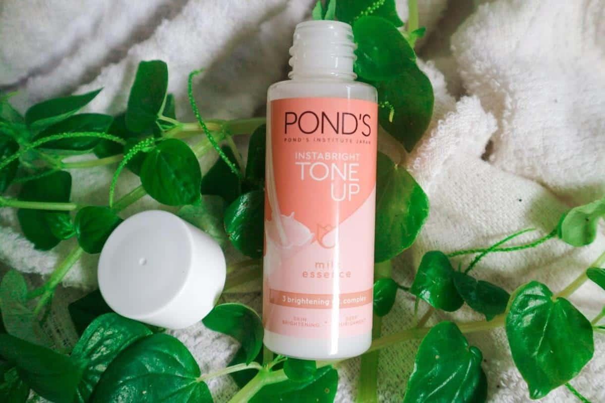 Review Ponds Instabright Tone Up Milk Essence_Cara Pakai