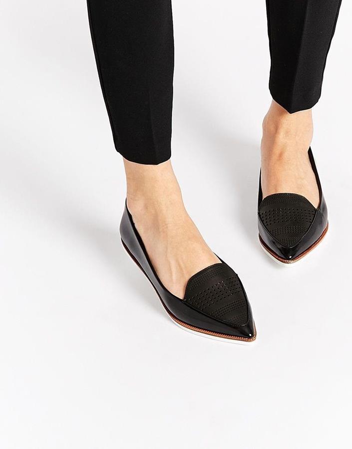 alas kaki untuk kaki lebar_Pointed Flat Shoes