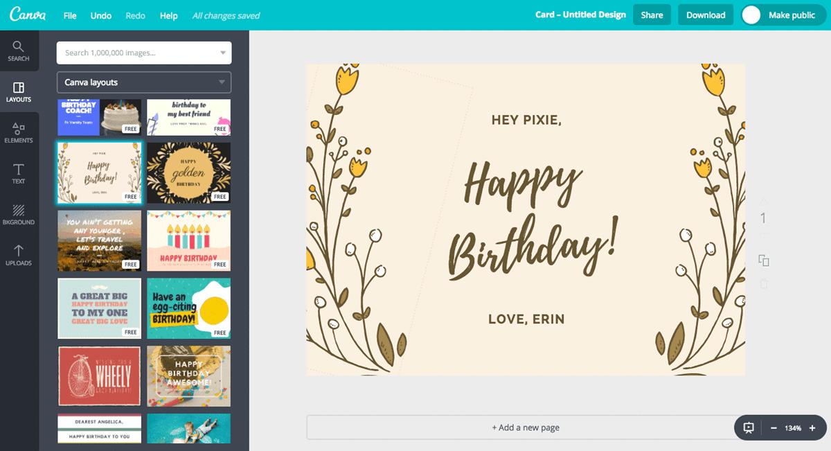 surprise ulang tahun online_Membuat e-card