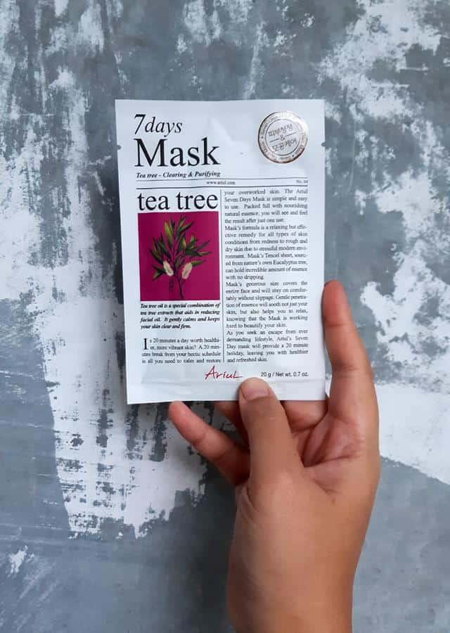 Review Ariul 7 Days Mask_kemasan 2