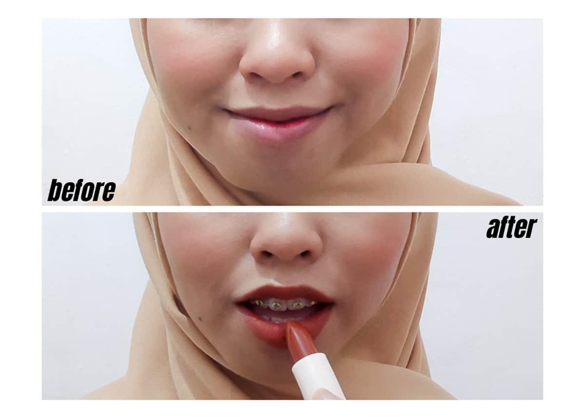 Review Wardah Colorfit Ultralight Matte Lipstick Korean_Aplikasi