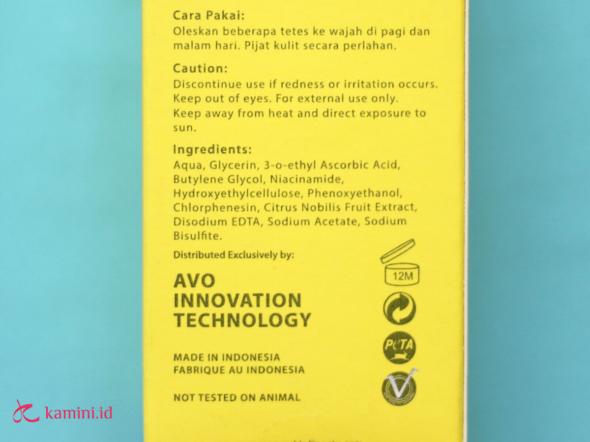 review avoskin your skin bae serum_ingredients list