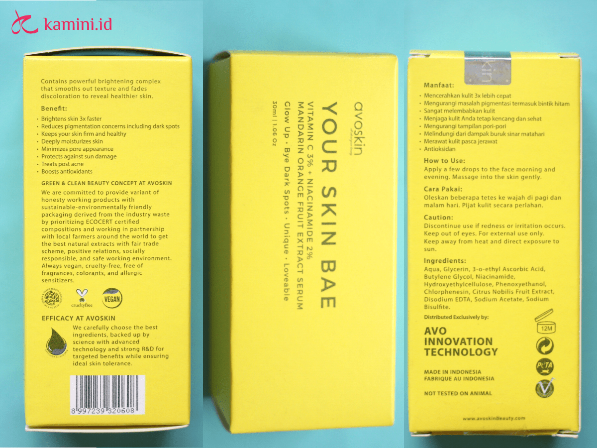 review avoskin your skin bae serum_klaim