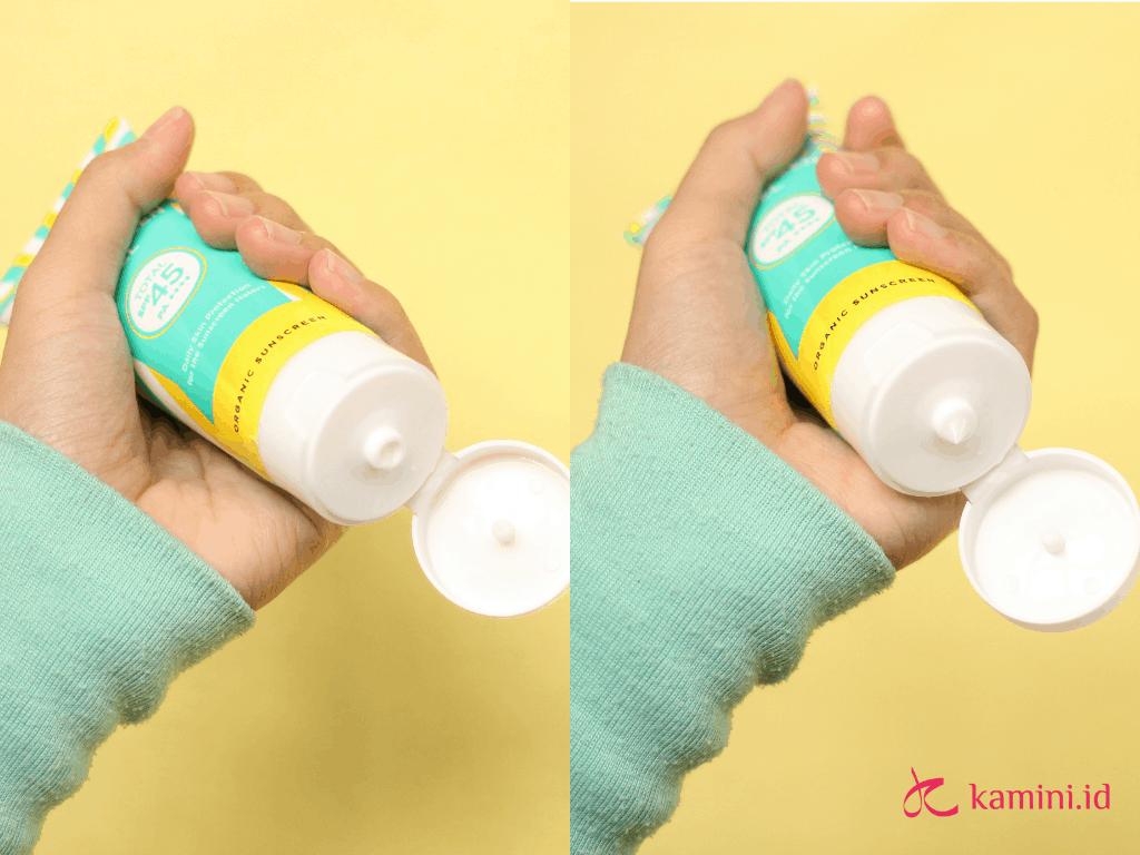 review azarine hydrasoothe sunscreen gel_cara pakai
