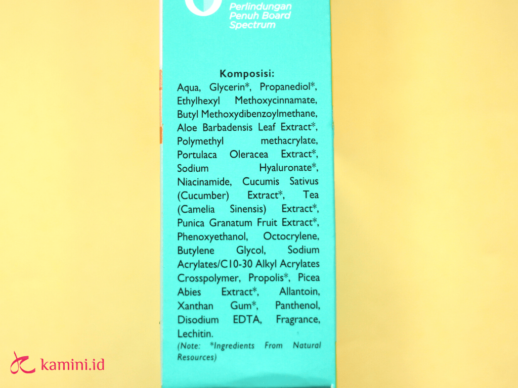 review azarine hydrasoothe sunscreen gel_ingredients