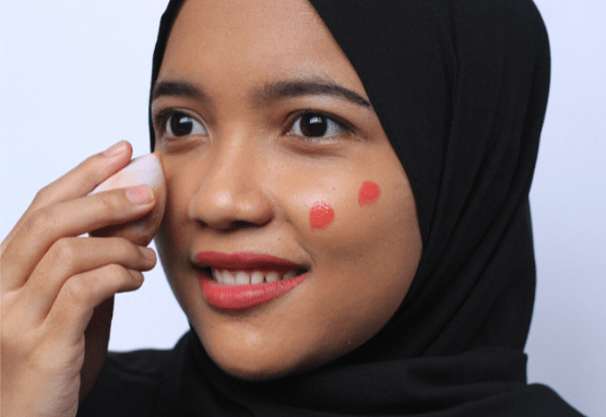 review make over hydrastay liquid tint blush_cara pakai